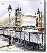 Fine Art Drawing The Tower Bridge In London Uk Acrylic Print