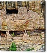 Fire Temple On Chapin Mesa Top Loop Road In Mesa Verde National Park-colorado  Acrylic Print