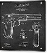 Firearm Patent Drawing From 1897 - Dark Acrylic Print by Aged Pixel