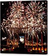 Fireworks At Kauffman Stadium Acrylic Print