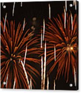 Fireworks At The Albuquerque Hot Air Acrylic Print
