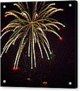 Fireworks In Neon Acrylic Print