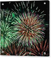 Fireworks Acrylic Print by Lester Phipps