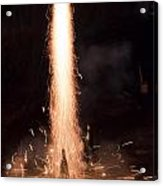 Fireworks Rocket Launch Acrylic Print
