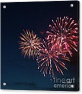 Fireworks Series Vi Acrylic Print by Suzanne Gaff