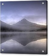 First Light At Trillium Lake With Reflection Acrylic Print