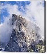 First Snow Of The Season In Yosemite Acrylic Print