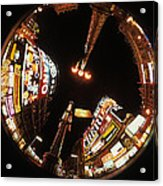 Fish Eye Photo Of Picadilly Circus Acrylic Print