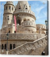 Fisherman Bastion In Budapest Acrylic Print