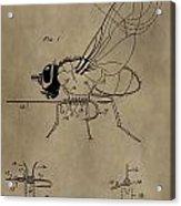 Fishing Fly Patent Acrylic Print