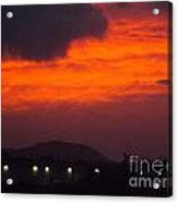 Flaming Sunrise II Acrylic Print
