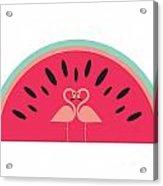 Flamingo Watermelon Acrylic Print