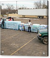 Flint Bottled Drinking Water Distribution Acrylic Print