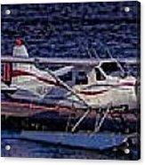 Float Plane Dock Acrylic Print