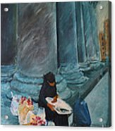 Flower Lady Of The Pantheon Acrylic Print