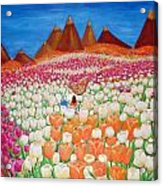 Flowers And Fields Alive With Thy Joy Acrylic Print