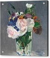 Flowers In A Crystal Vase Acrylic Print