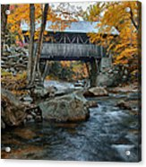 Flume Gorge Covered Bridge Acrylic Print
