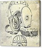 1927 Football Helmet Patent Acrylic Print