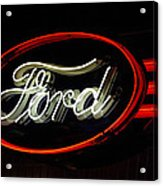 Ford Neon Sign Acrylic Print