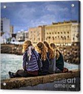 Foreign Students Cadiz Spain Acrylic Print