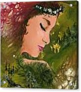 Forest Girl Acrylic Print