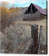 Forgotten Barn Acrylic Print by Kimberly Maiden