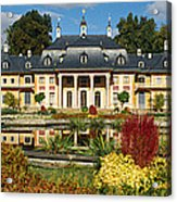 Formal Garden In Front Of A Castle Acrylic Print