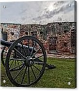 Fort Pike Cannon Acrylic Print