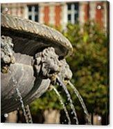 Fountain - Place Des Vosges Acrylic Print