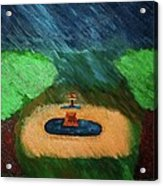 Fountain In The Midst Acrylic Print
