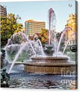 Fountain In The Pink Acrylic Print