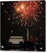 Fourth Of July Fireworks At Washington Dc Acrylic Print