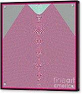 Fractal 28 Pink Gingham Shirt Acrylic Print