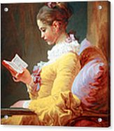 Fragonard's Young Girl Reading Acrylic Print
