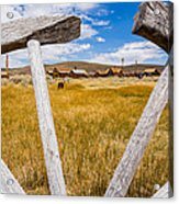 Framed View Of Bodie Ghost Town Acrylic Print