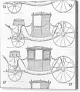 France Carriages, C1740 Acrylic Print