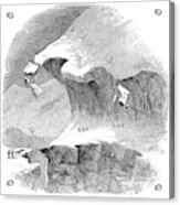 France Mont Blanc, 1851 Acrylic Print