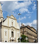 Franciscan Church Of Pest In Budapest Acrylic Print