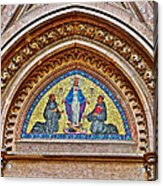 Fresco In Front Of Saint Anthony's Church In Istanbul-turkey  Acrylic Print