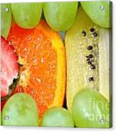 Fresh Fruit Mix Background Acrylic Print