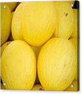 Fresh Melons On A Street Fair In Brazil Acrylic Print by Ricardo Lisboa