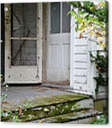 Front Door Of Abandoned House Acrylic Print