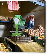 Fruit Stand Woman Acrylic Print