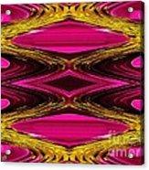 Fuchsia Sensation Zigzags Acrylic Print