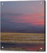 Full Moon Over Laguna De Chaxa Acrylic Print