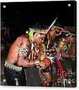 Fulnio Indians Of Brazil  Acrylic Print