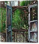 Garden Backyard Acrylic Print