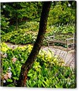 Garden Bench Acrylic Print