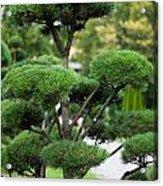 Garden Landscape - Topiary Acrylic Print